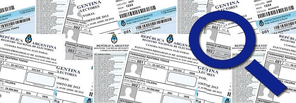 Consulta Padrón Electoral Argentina 201