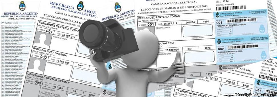La Cámara Electoral levantó las fotos de ciudadanos en la consulta del padrón