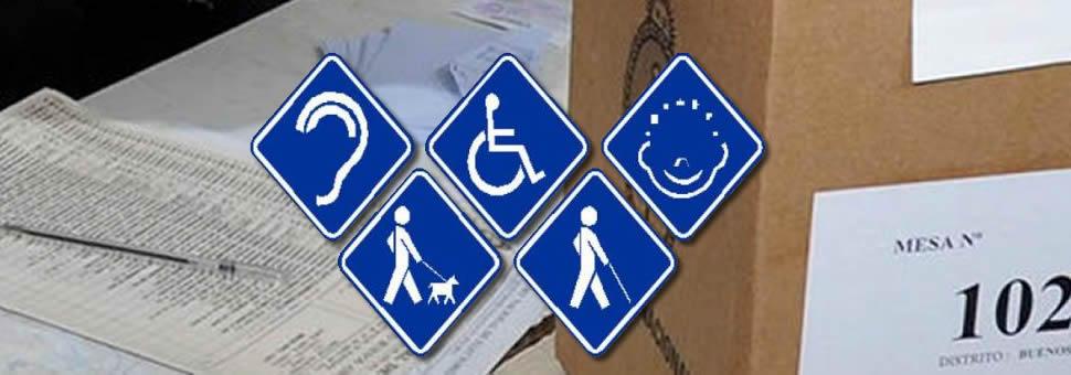 Voto de discapacitados : implementan medidas para facilitar el sufragio